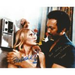 Britt Ekland and Sonny Caldinez multi signed 10x8 colour photograph taken during their time in the