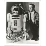 Kenny Baker signed 10X8 Star Wars R2D2 black and white photo dedicated. Good condition. All