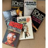 James Bond collection of paperback books, includes The Man With The Golden Gun, Octopussy, Colonel