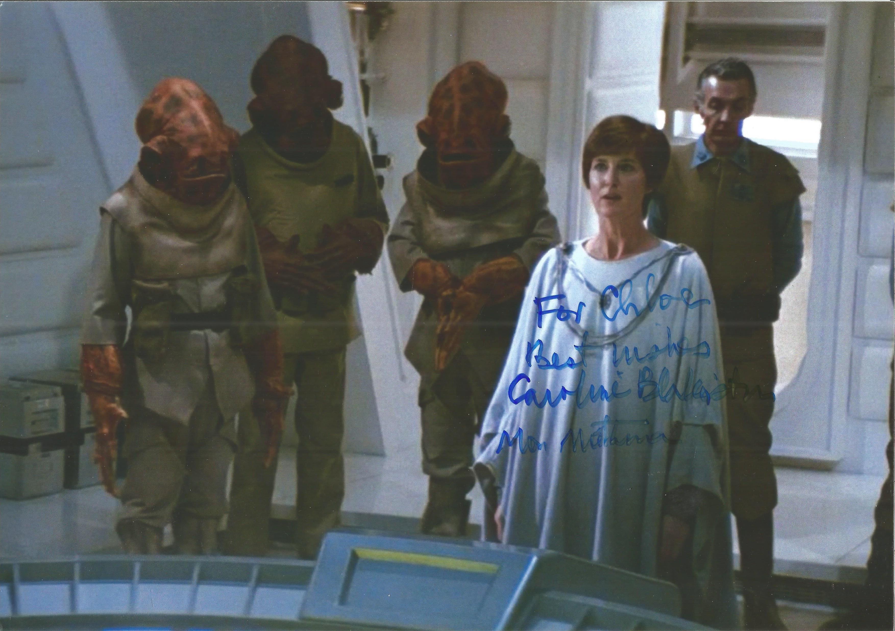 Caroline Blakiston Star Wars signed 11 x 8 colour photo (dedicated). Good condition. Good condition.