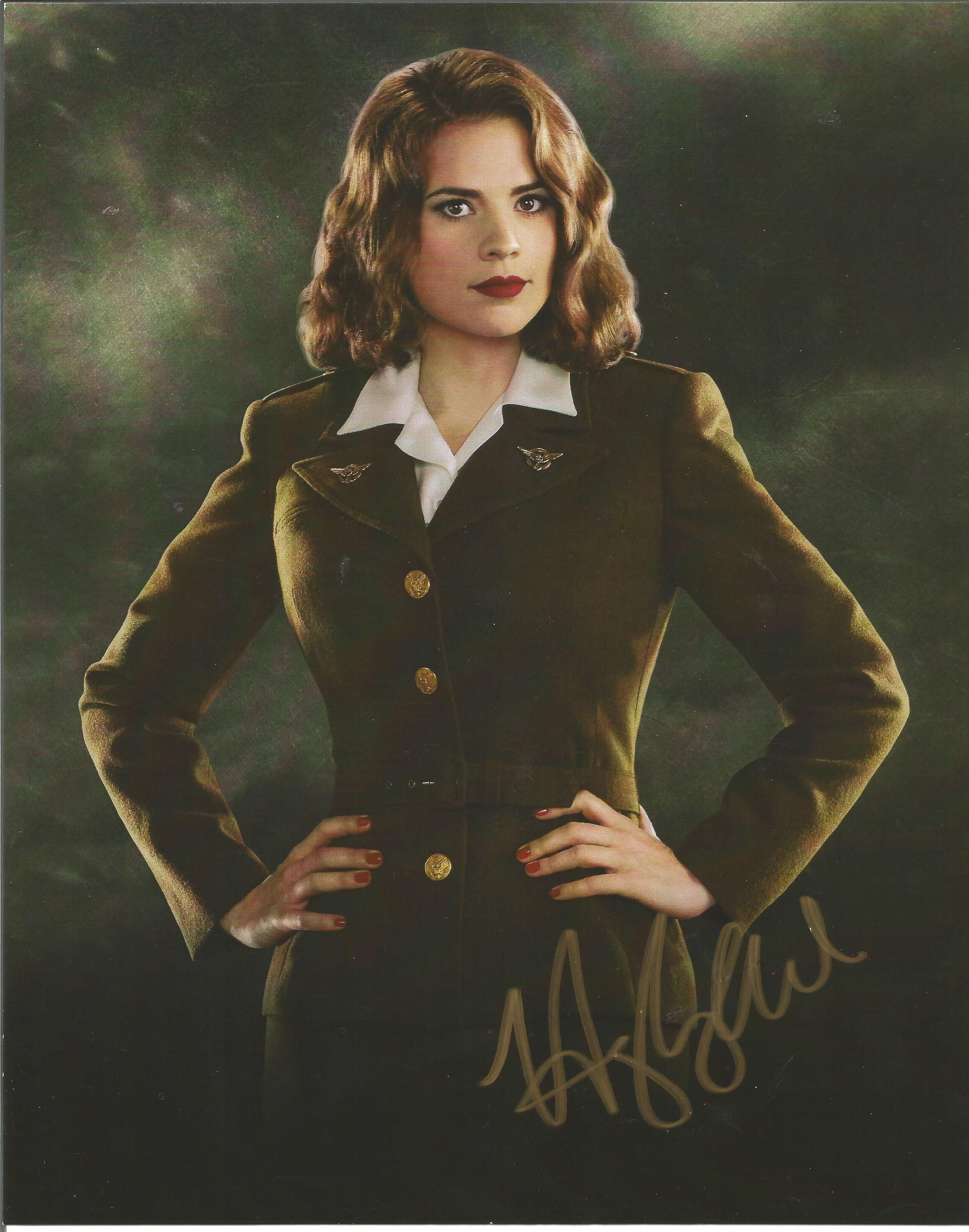 Hayley Atwell signed 10x8 colour photograph pictured as she plays her role as Peggy Carter in the