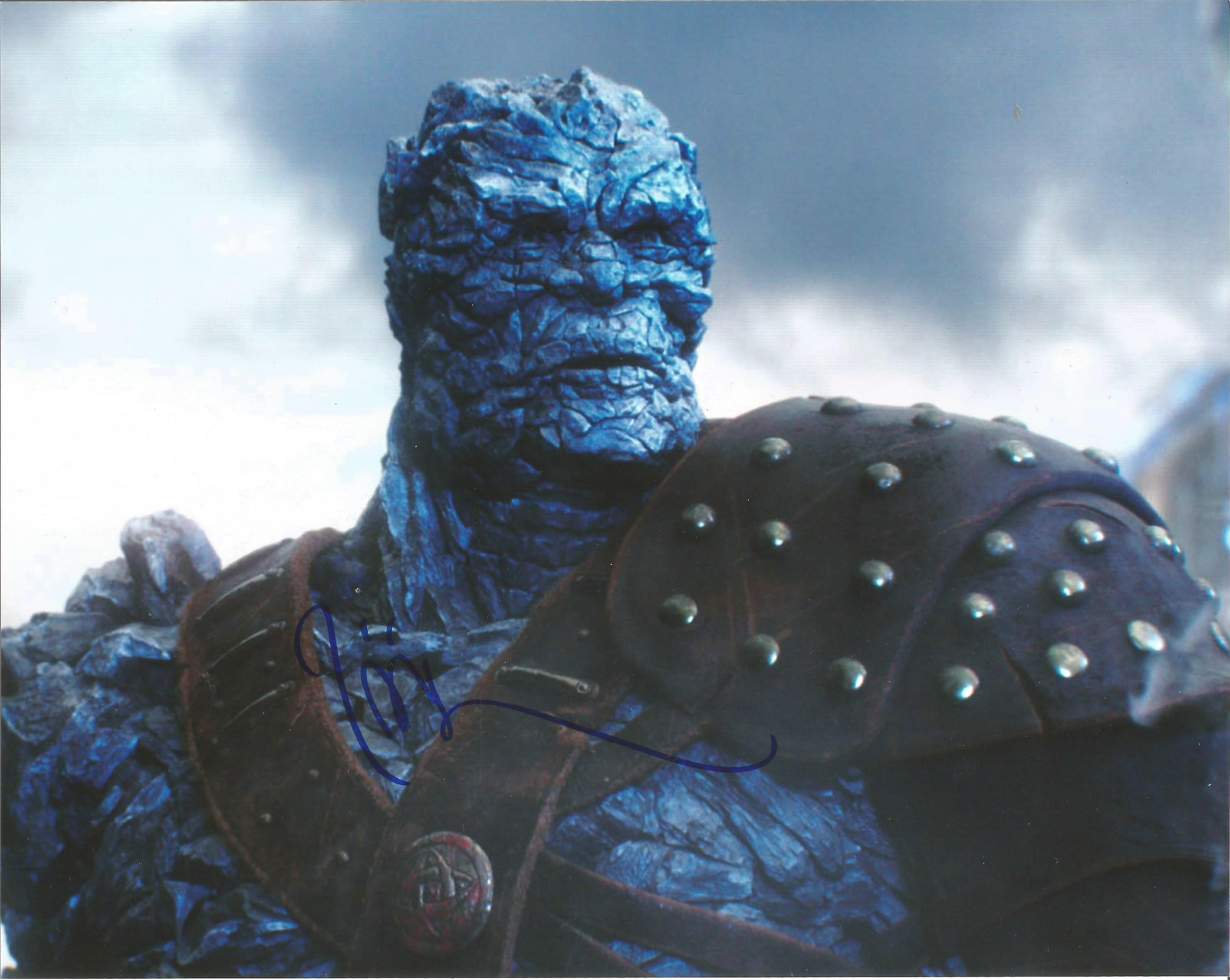 Taika Waititi signed 10x8 signed colour photograph pictured as Korg, a Kronan warrior in the