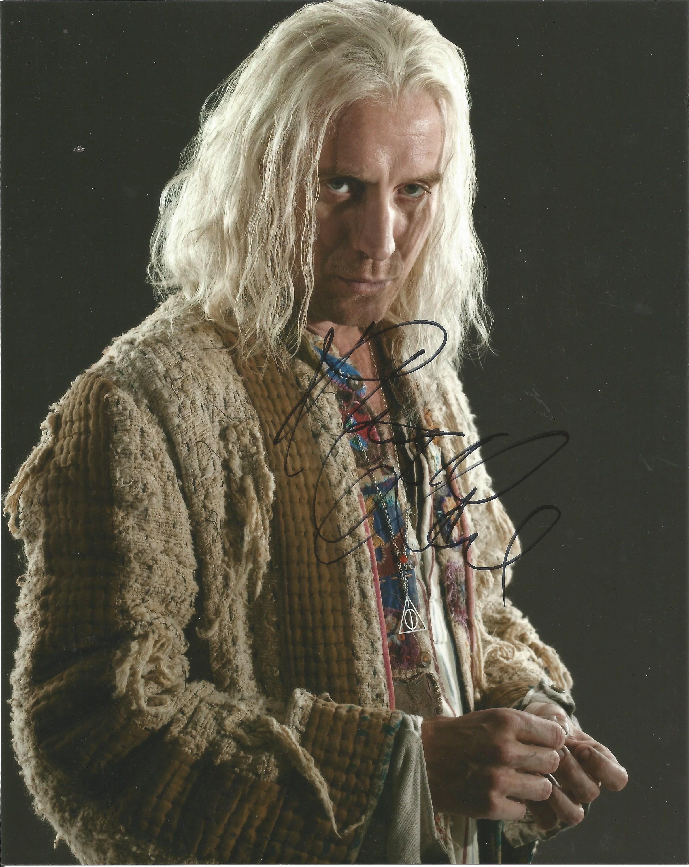 Rhys Ifans signed 10x8colour photograph pictured as he plays Xenophilius Lovegood in Harry Potter