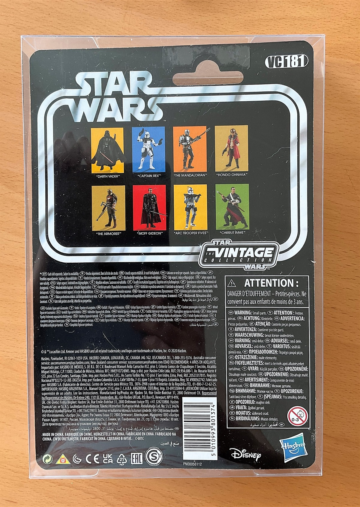 Star Wars, miniature action figure of The Mandalorian. This item is still complete in its - Image 2 of 2