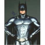 Val Kilmer signed colour10x8 photograph taken during his time playing Bruce Wayne, Batman in the