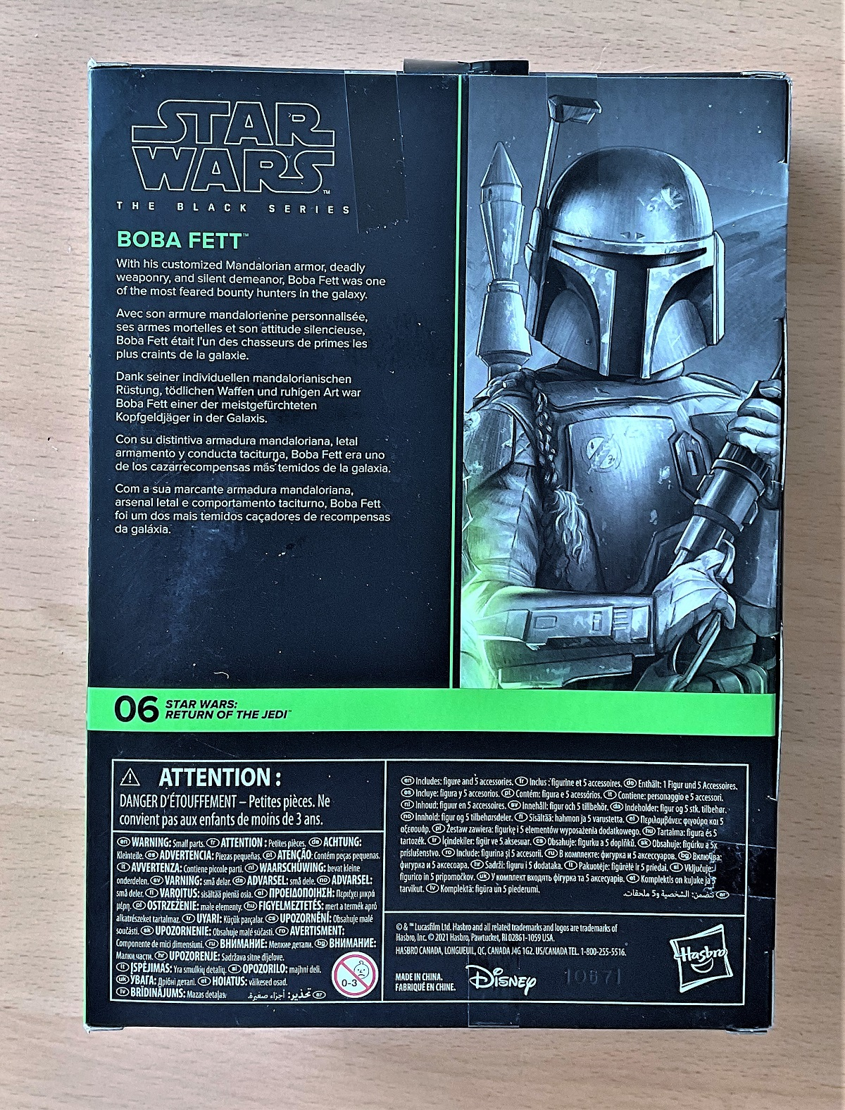 Star Wars, The Black Series miniature action figure of Boba Fett taken from Star Wars; Return of the - Image 2 of 3