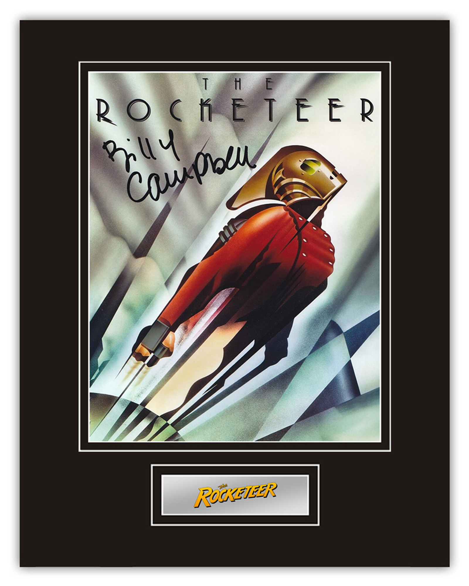 Stunning Display! The Rocketeer Billy Campbell hand signed professionally mounted display. This
