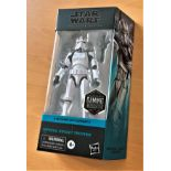 Star Wars, The Black Series miniature action figure of Imperial Rocket Trooper, taken from Star