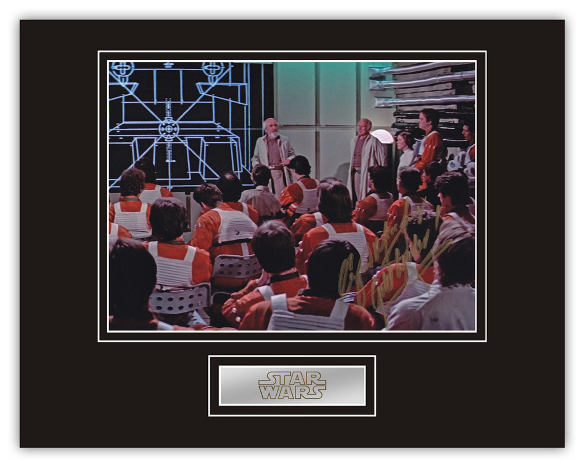 Stunning Display! Star Wars Angus MacInnes hand signed professionally mounted display. This