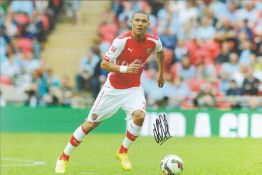 Football, Kieran Gibbs signed 12x8 colour photograph pictured during his time playing for Arsenal.