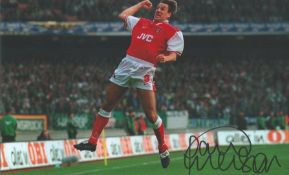 Football, Paul Merson signed 12x8 colour photograph pictured as he celebrates whilst playing for