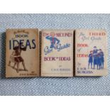3 x Girl Guide Book of Ideas by E. M. R. Burgess softback books Published1939 and 1943 Brown,