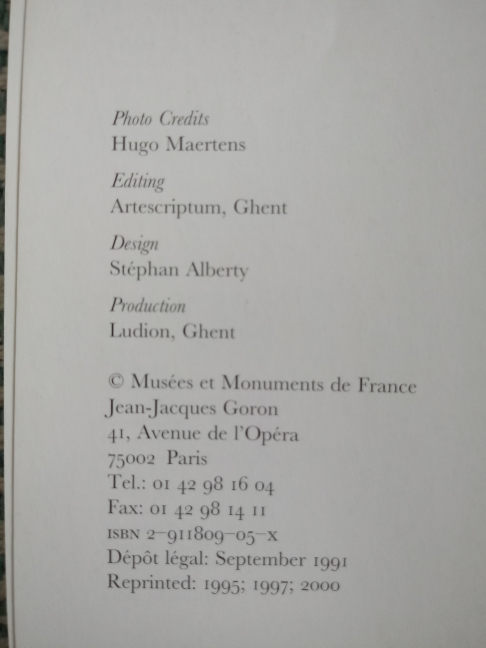 The Nissim de Camondo Museum Paris by Nadine gasc & Gerard Mabille softback book 125 pages Published - Image 2 of 2