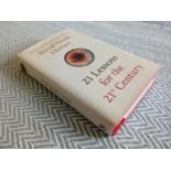 21 Lessons For The 21st Century by Yuval Noah Harari hardback book 352 pages Published 2018 Jonathan