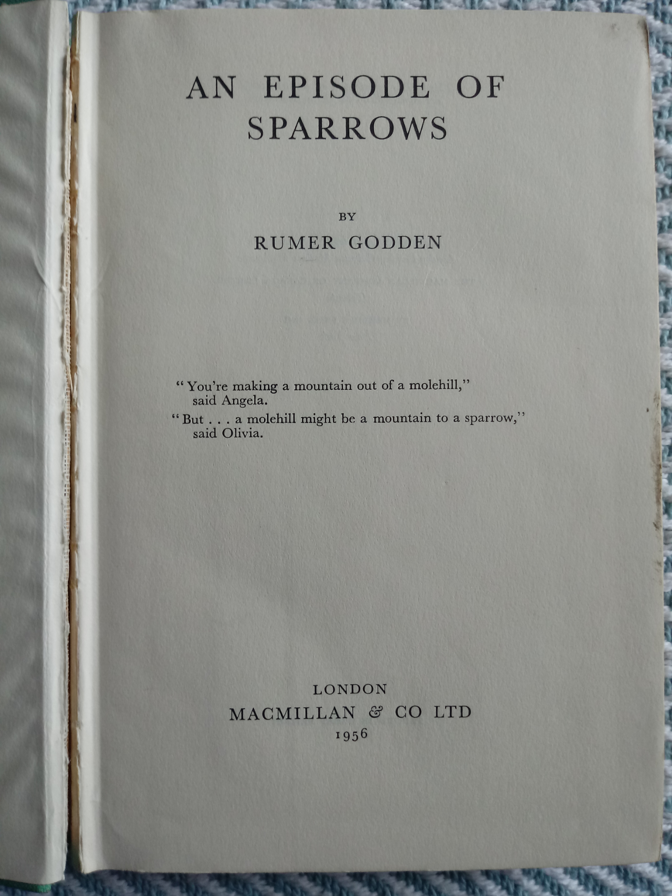 An Episode Of Sparrows by Rumer Godden 264 pages Published 1956 Macmillan & Co Ltd. Showing signs of - Image 3 of 3