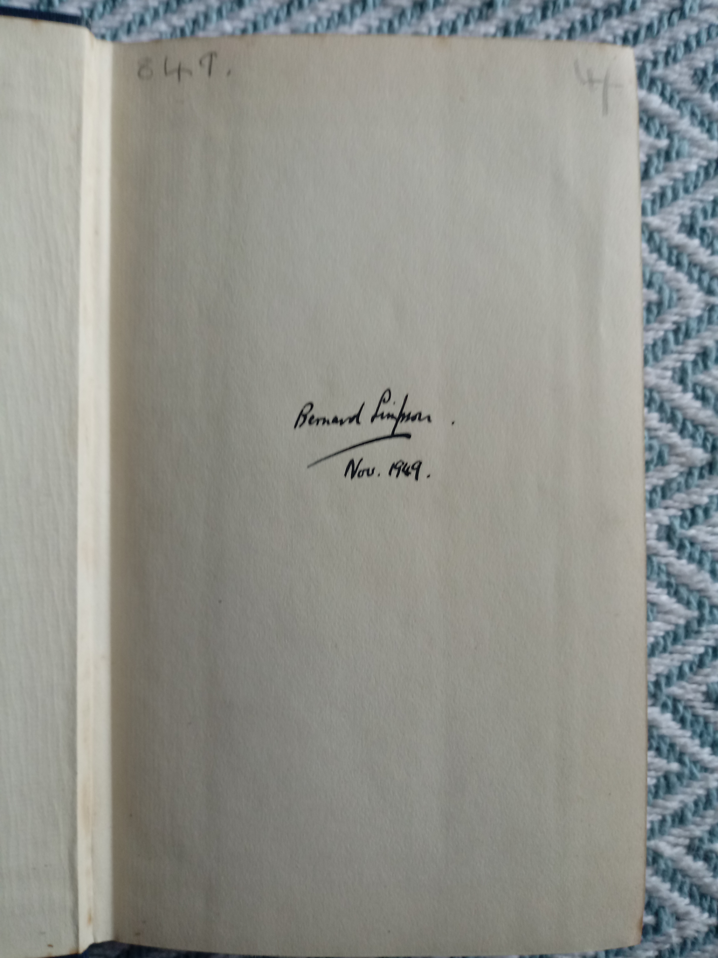 The Life And Opinions Of Tristram Shandy Gentleman by Laurence Sterne hardback book 593 pages signed - Image 3 of 4