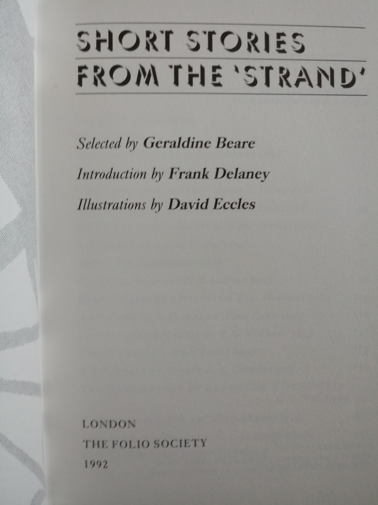 2 x hardback books selected by Geraldine Beare, Short Stories From The Strand 318 pages Published - Image 4 of 7