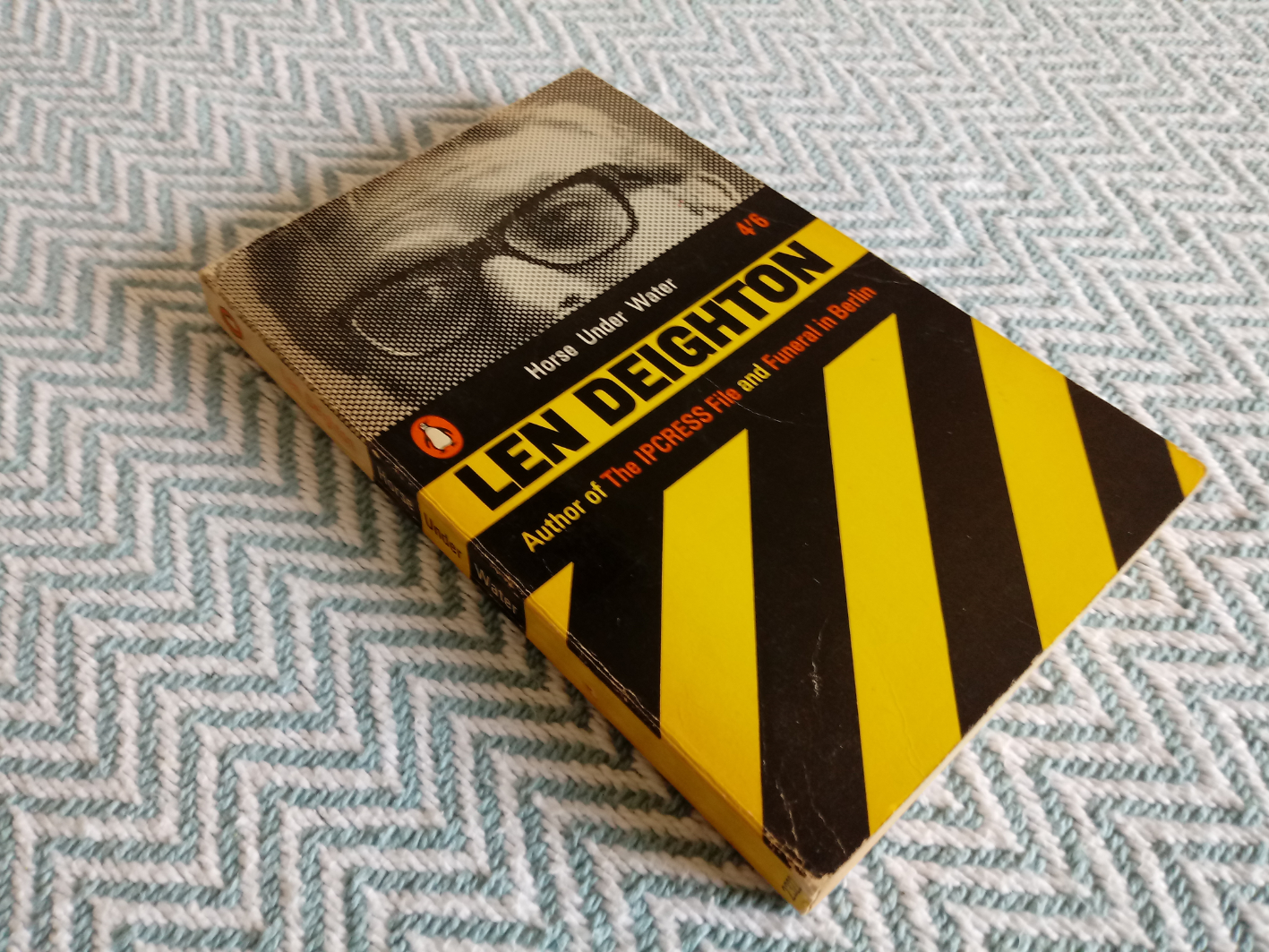 4 x Len Deighton softback books 1-Funeral in Berlin 256 pages publish Penguin books 1966 in good