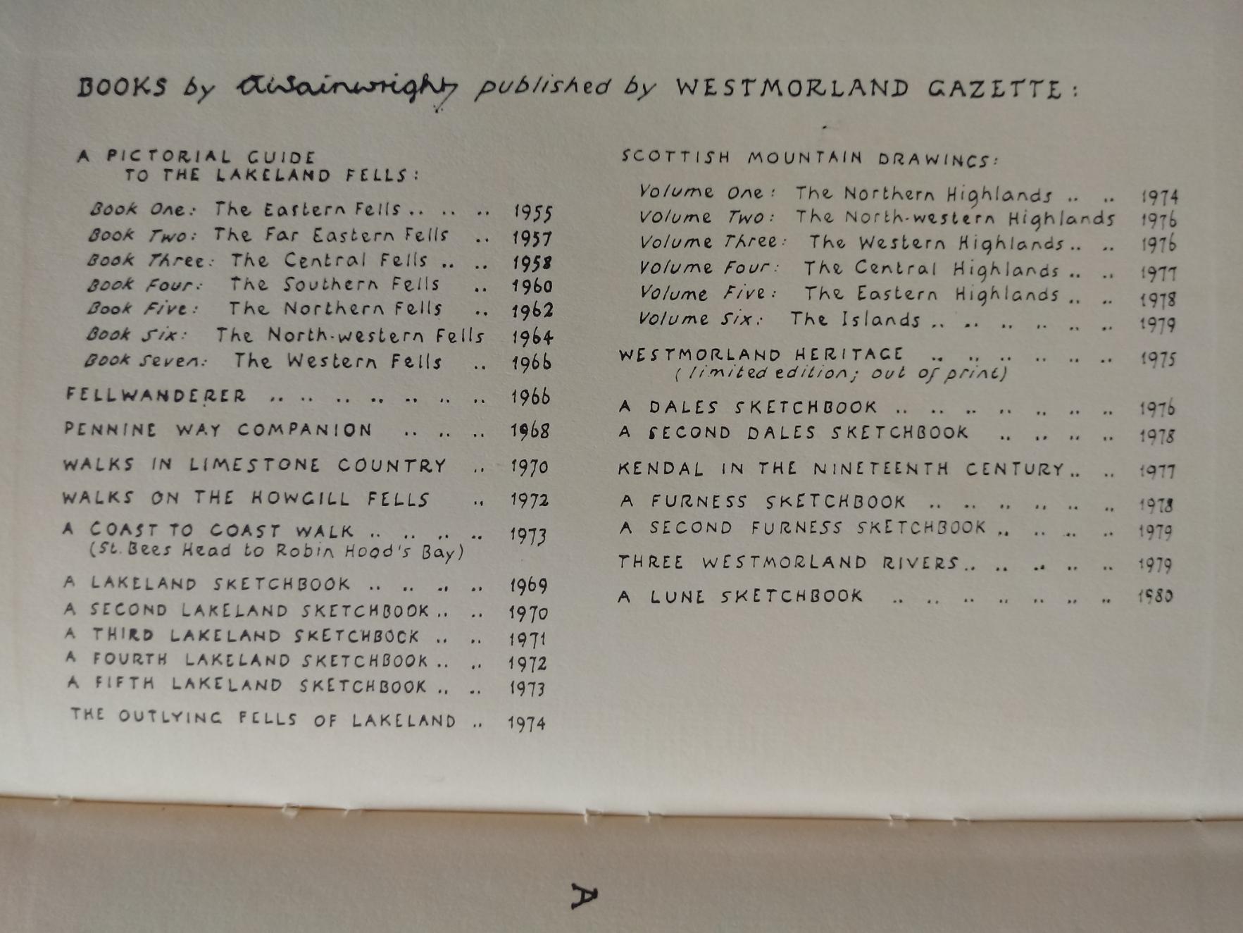 A Coast to Coast Walk by A. Wainwright hardback book 168 pages published 1973 Westmorland Gazette. - Image 2 of 2