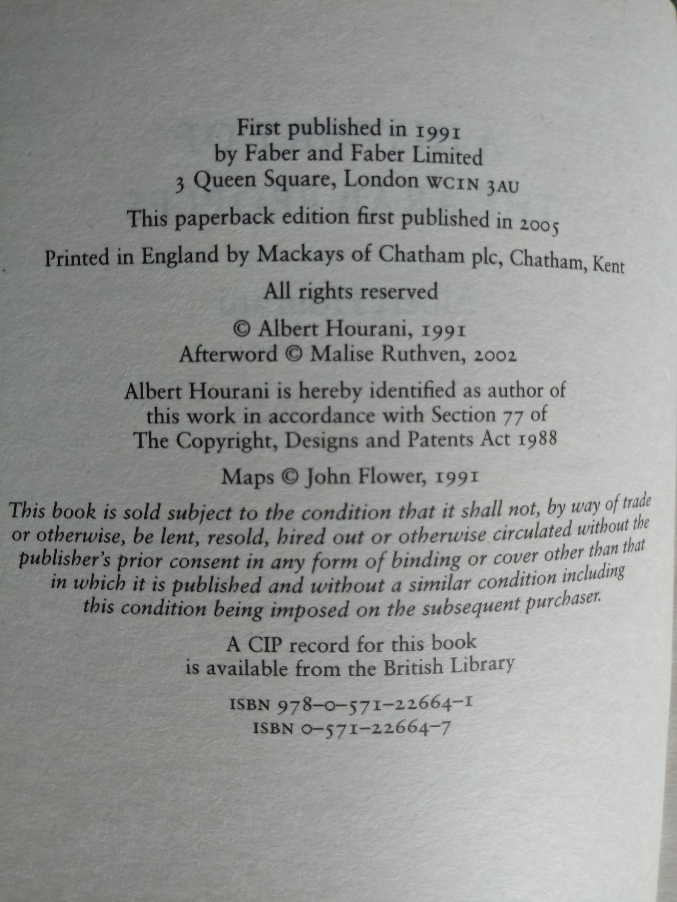 A History Of The Arab People paperback book by Albert Hourani. Published 2005 Faber & Faber. 566 - Image 2 of 2