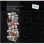 Danish 2001 stamp yearbook. Unmounted mint stamps. Good condition. We combine postage on multiple