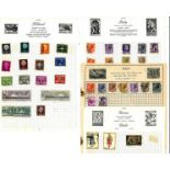 European stamp collection 19 loose album pages countries include Italy, Holland and Norway. Good