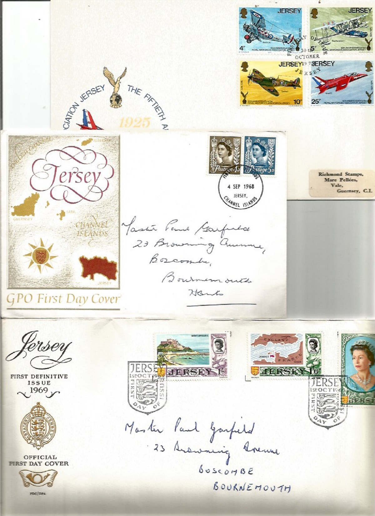 Jersey postal collection. Includes 2 presentation packs silver jubilee and 1st defs. 3 FDC's - - Image 3 of 3