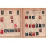 South America and USA stamp collection on 29 pages. Includes stamps from Argentina, Brazil, Chile,