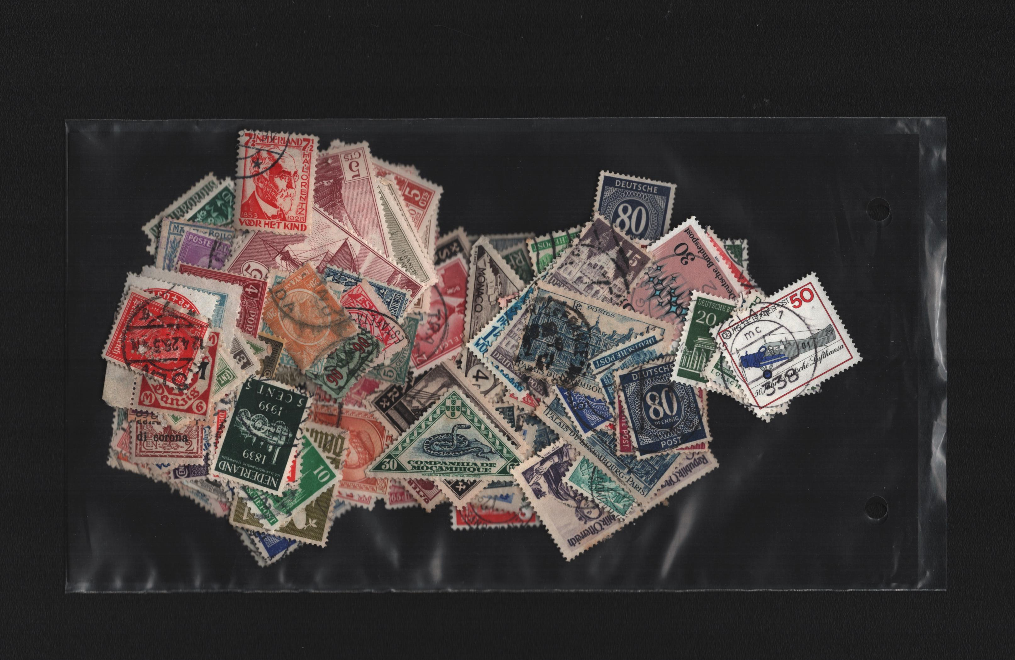 Stamp collection on 5 loose pages. Includes Austria, Switzerland and Germany. Also includes loose - Image 2 of 2