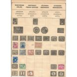 Egypt, Argentina and Japan stamp collection on 3 loose pages. Good condition. We combine postage