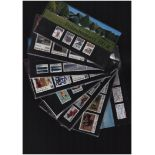Denmark stamp presentation pack collection. 18 in total. Catalogue value of mint stamps over £200.