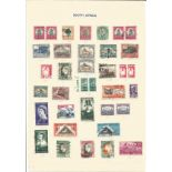 South African stamp collection on 2 loose sheets. 58 stamps. Good condition. We combine postage on
