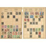 European stamp collection 14 loose album pages includes Austria, Belgium, Portugal, Colonies,