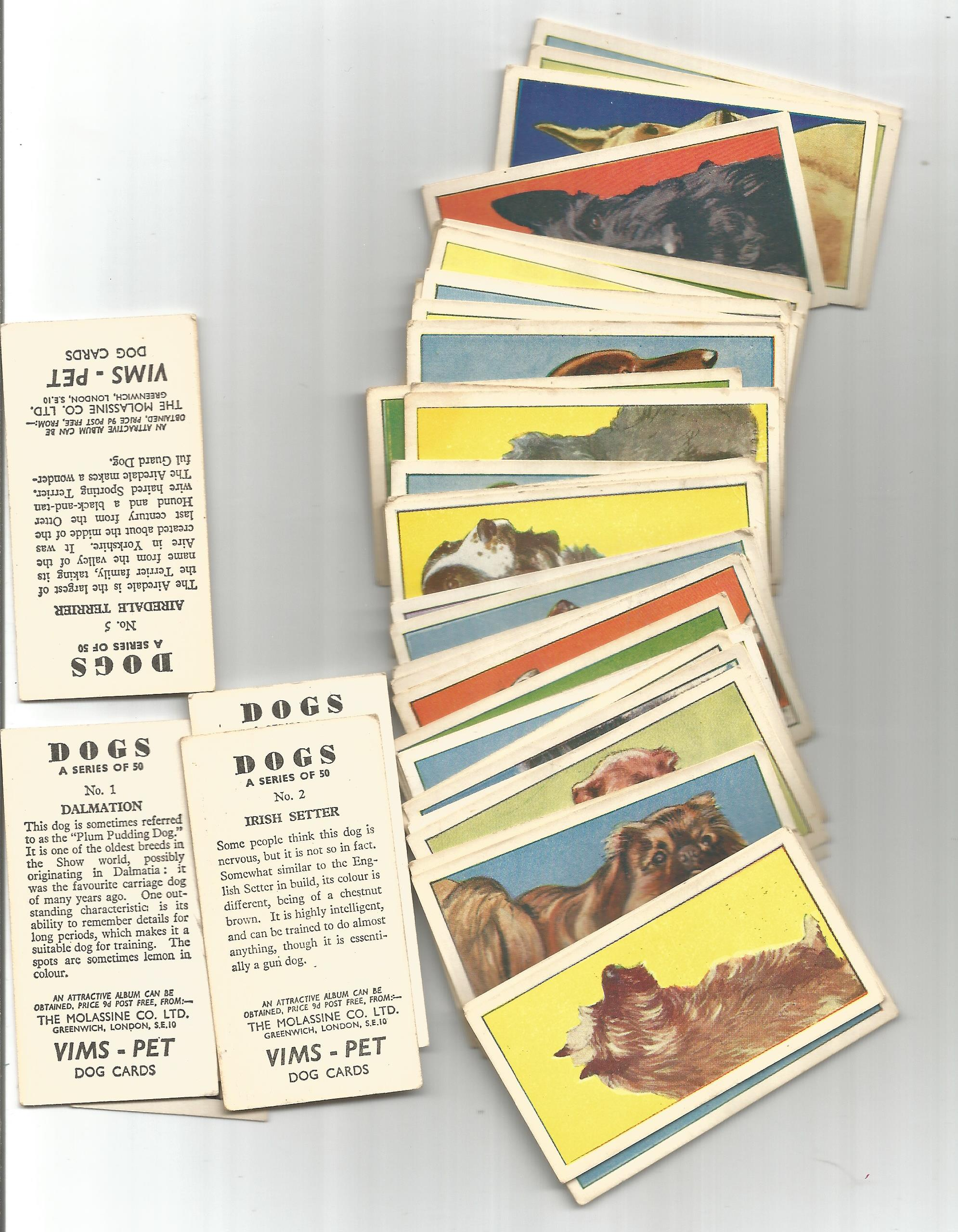 Cigarette card collection. Includes Lyons maid 1966 famous cars 38 cards, The molassme co 1964 - dog - Image 2 of 3