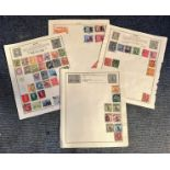 World Stamp collection 6 loose album pages countries include China and Japan. Good condition. We
