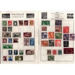 BCW stamp collection on 10 loose album pages. Includes Bahrain, Bermuda, Cyprus, Gold Coast,