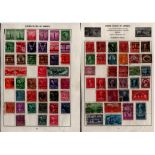 USA stamp collection on 5 loose album pages. Good condition. We combine postage on multiple