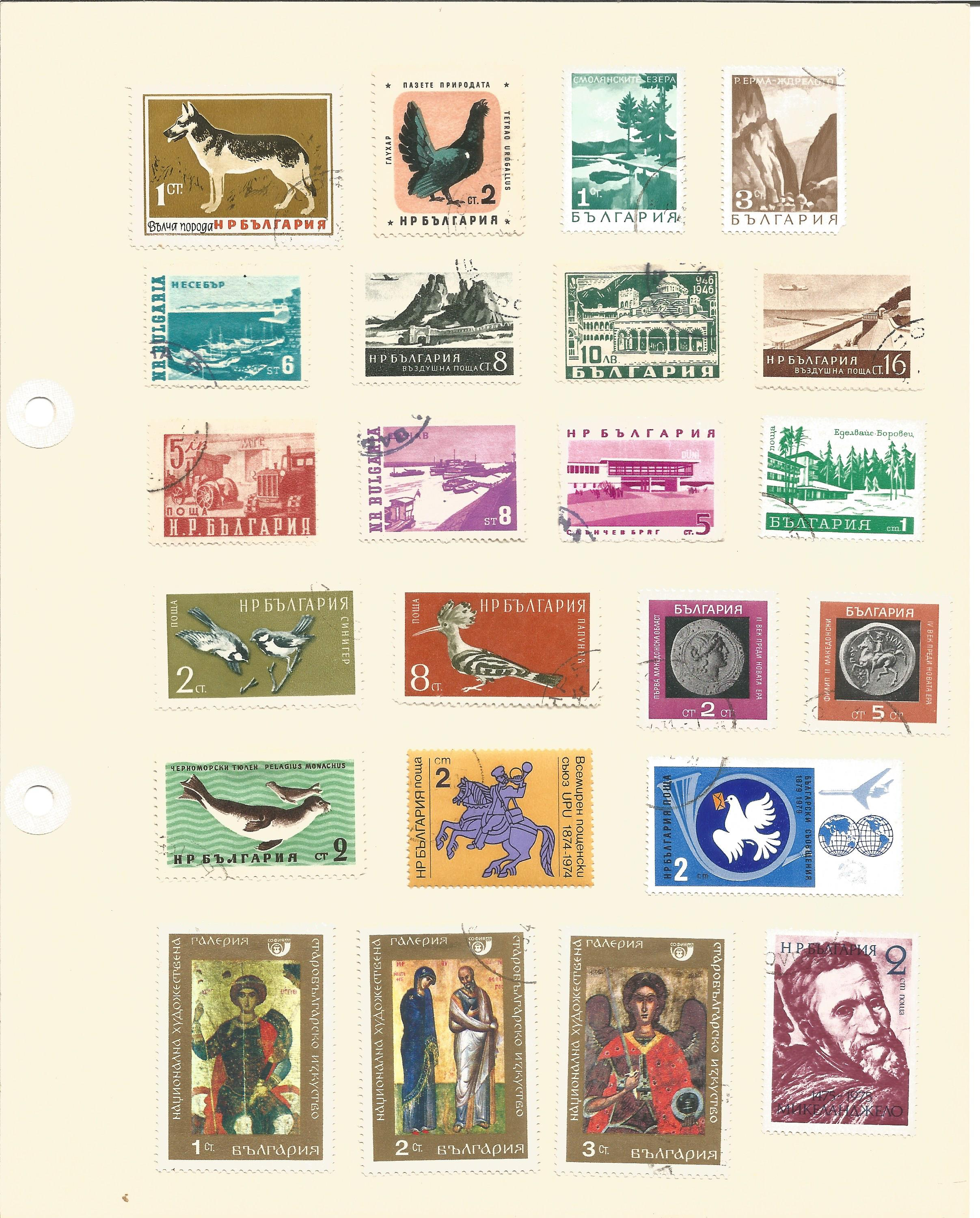Bulgarian stamp collection on 7 loose pages. Good condition. We combine postage on multiple - Image 2 of 4