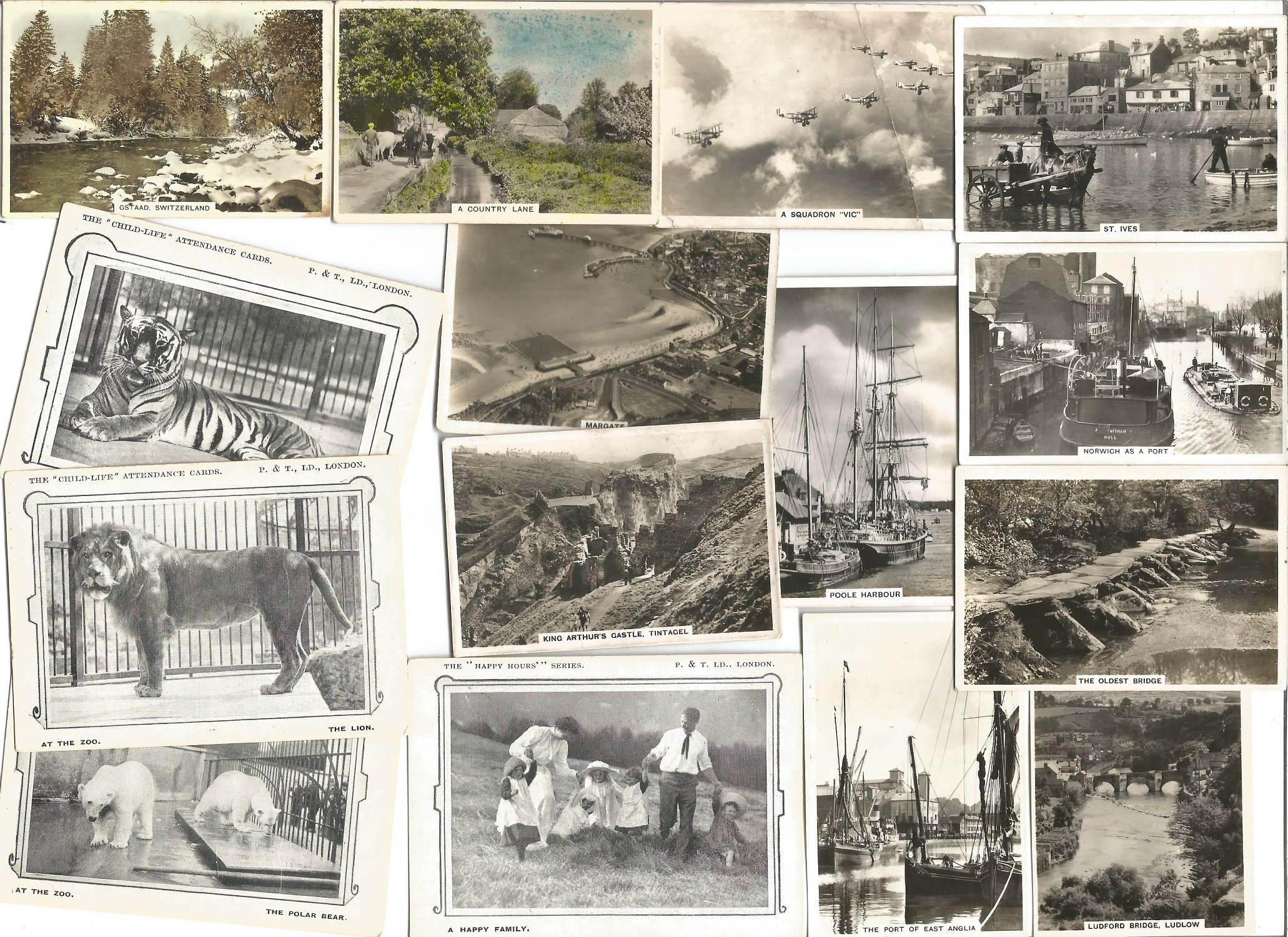 Cigarette card collection. 6 pages of Senior service black and white photos. Good condition. We
