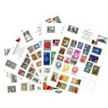 World Stamp collection 18 loose album pages countries include Bulgaria, Czechoslovakia, Denmark,