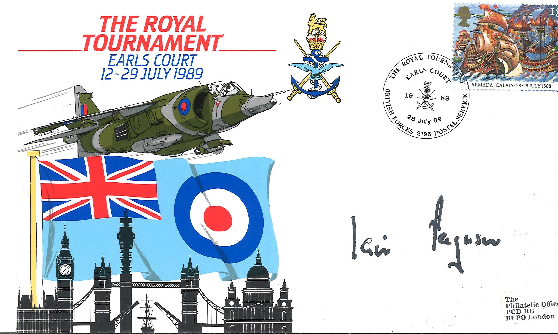 Iain Ferguson signed The Royal Tournament/Earls Court 28/7/89. Good condition. We combine postage on