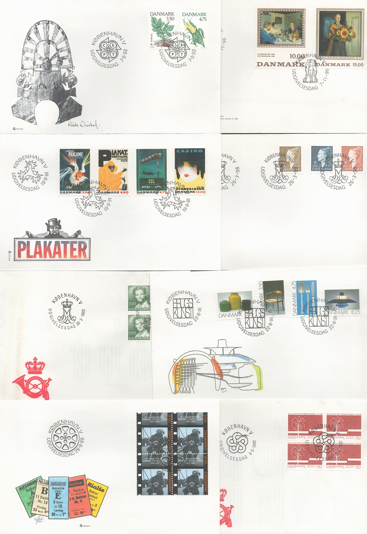 Danish FDC collection. 33 in total. 1976/1998. Good condition. We combine postage on multiple - Image 2 of 2