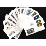 Danish FDC collection. 29 in total. 1973/2003. Cat value approx £213. Good condition. We combine