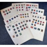 South America stamp collection 10 loose album pages countries include Argentina, Ecuador, Bolivia,