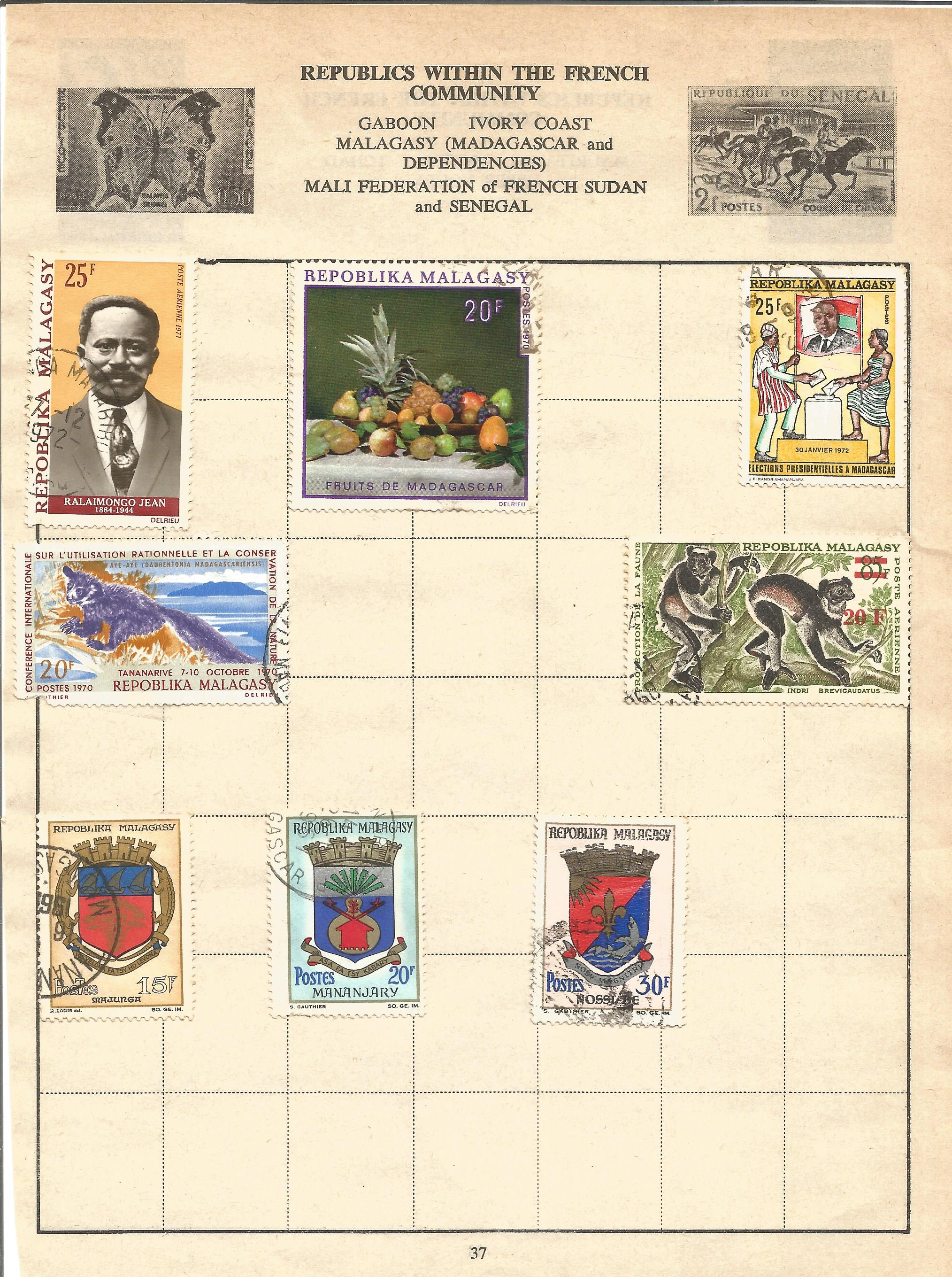 European stamp collection on 11 loose pages. Covers Germany and France and Colonies. Good condition. - Image 2 of 3