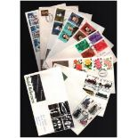 GB FDC collection. 34 in total. 1965/1999. Some special postmarks and some commemorative. Good