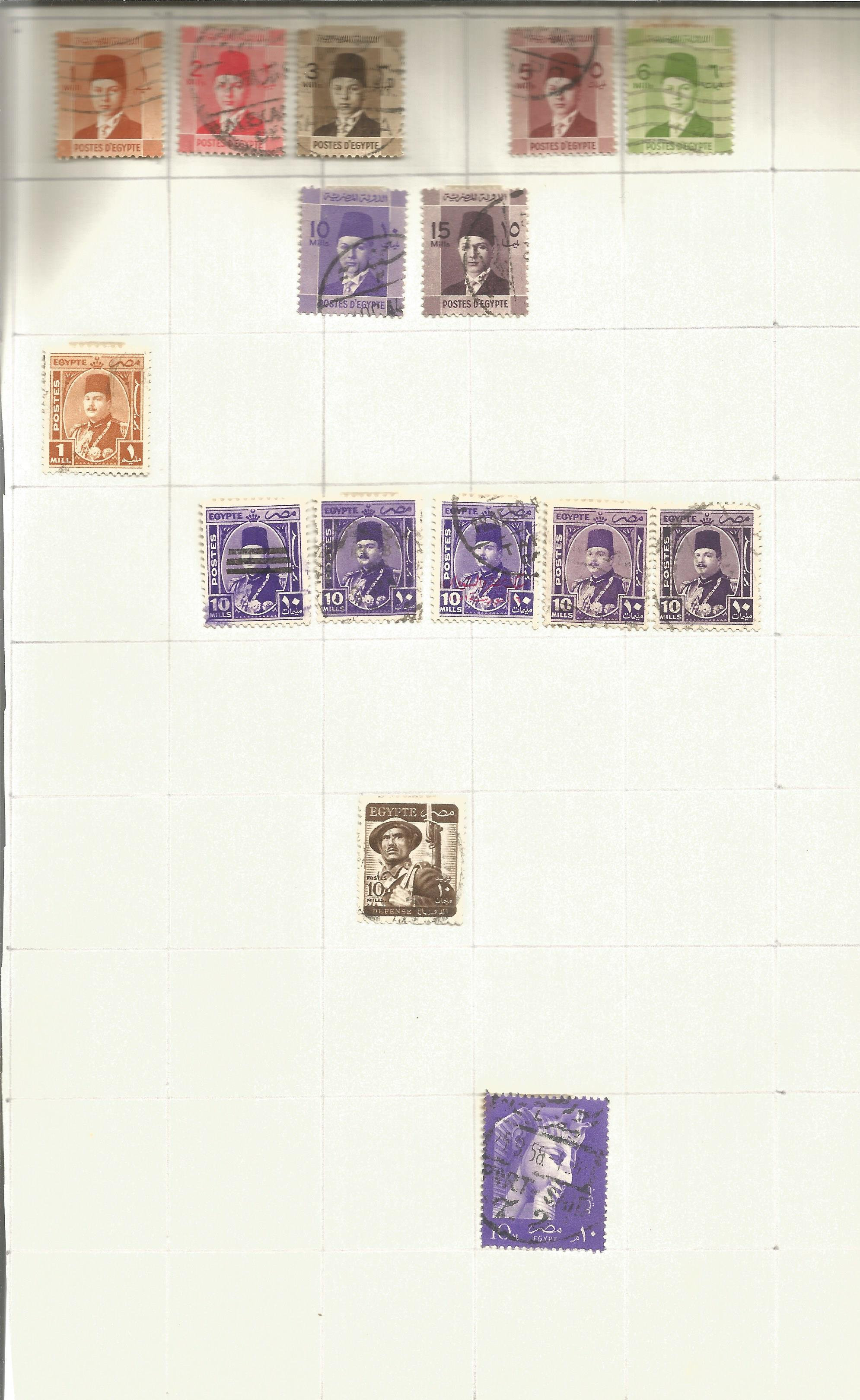 Egypt stamp collection on 3 loose pages. Good condition. We combine postage on multiple winning lots - Image 2 of 2