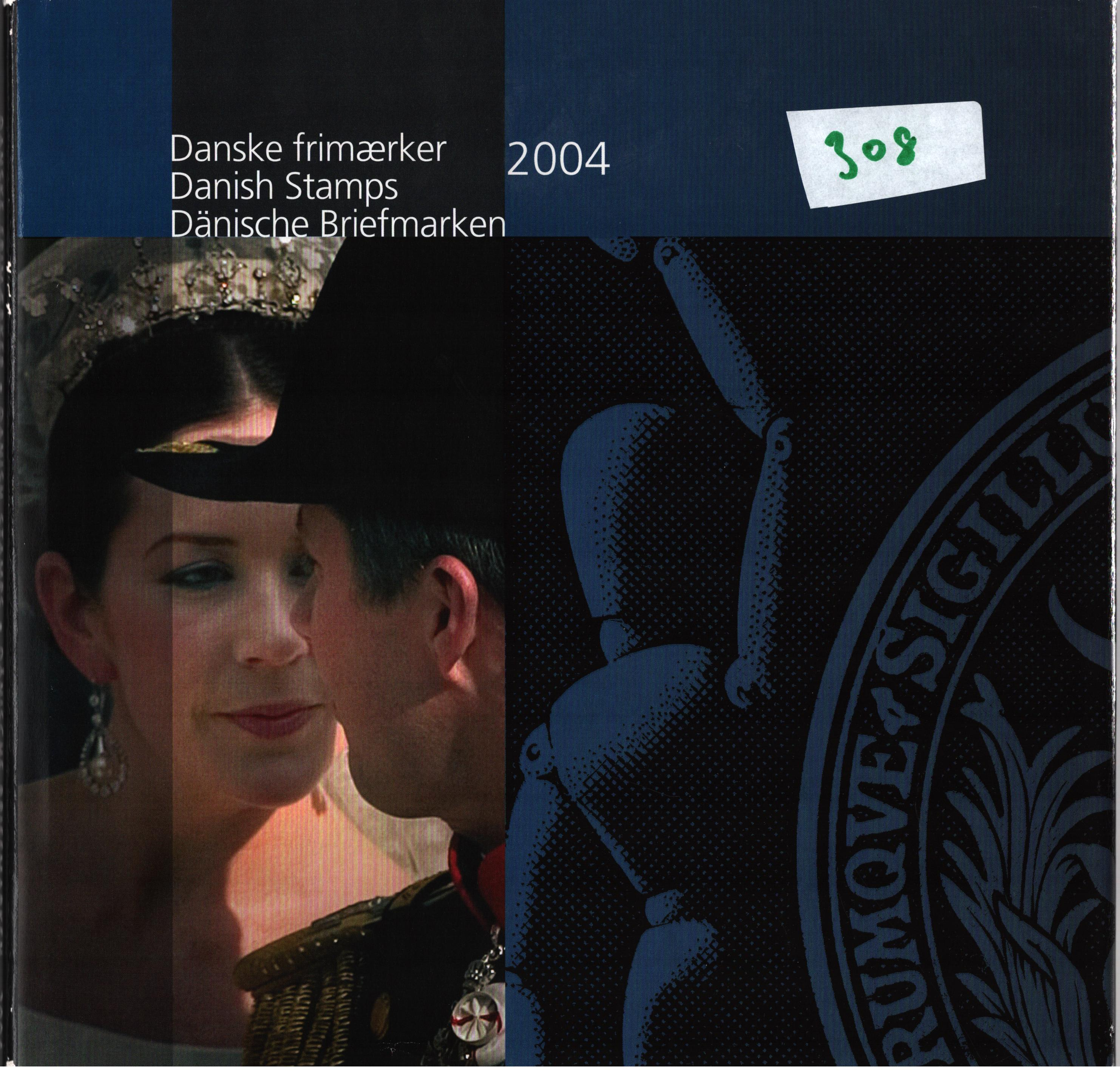 Danish 2004 stamp yearbook. Unmounted mint stamps. Good condition. We combine postage on multiple