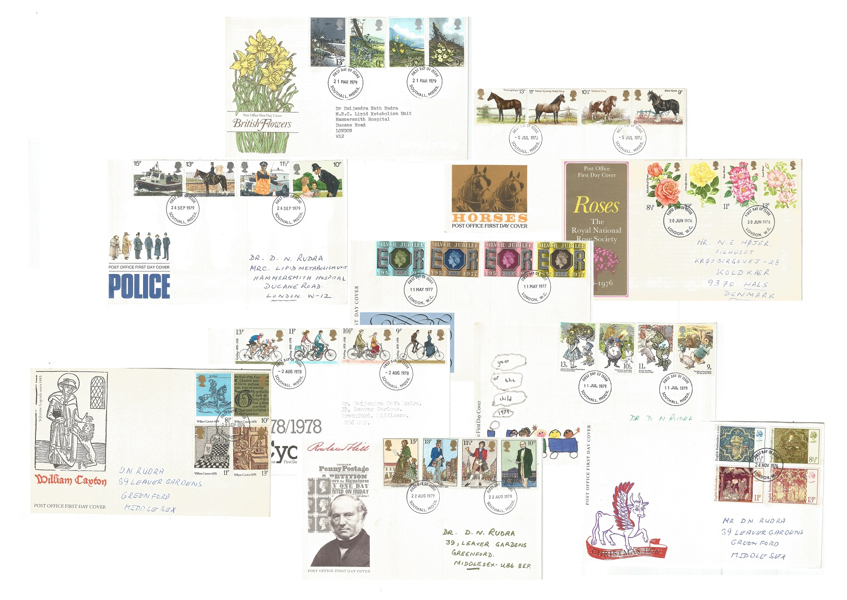 GB FDC and special covers collection. 21 in total. 1976-1979. Some interesting postmarks and