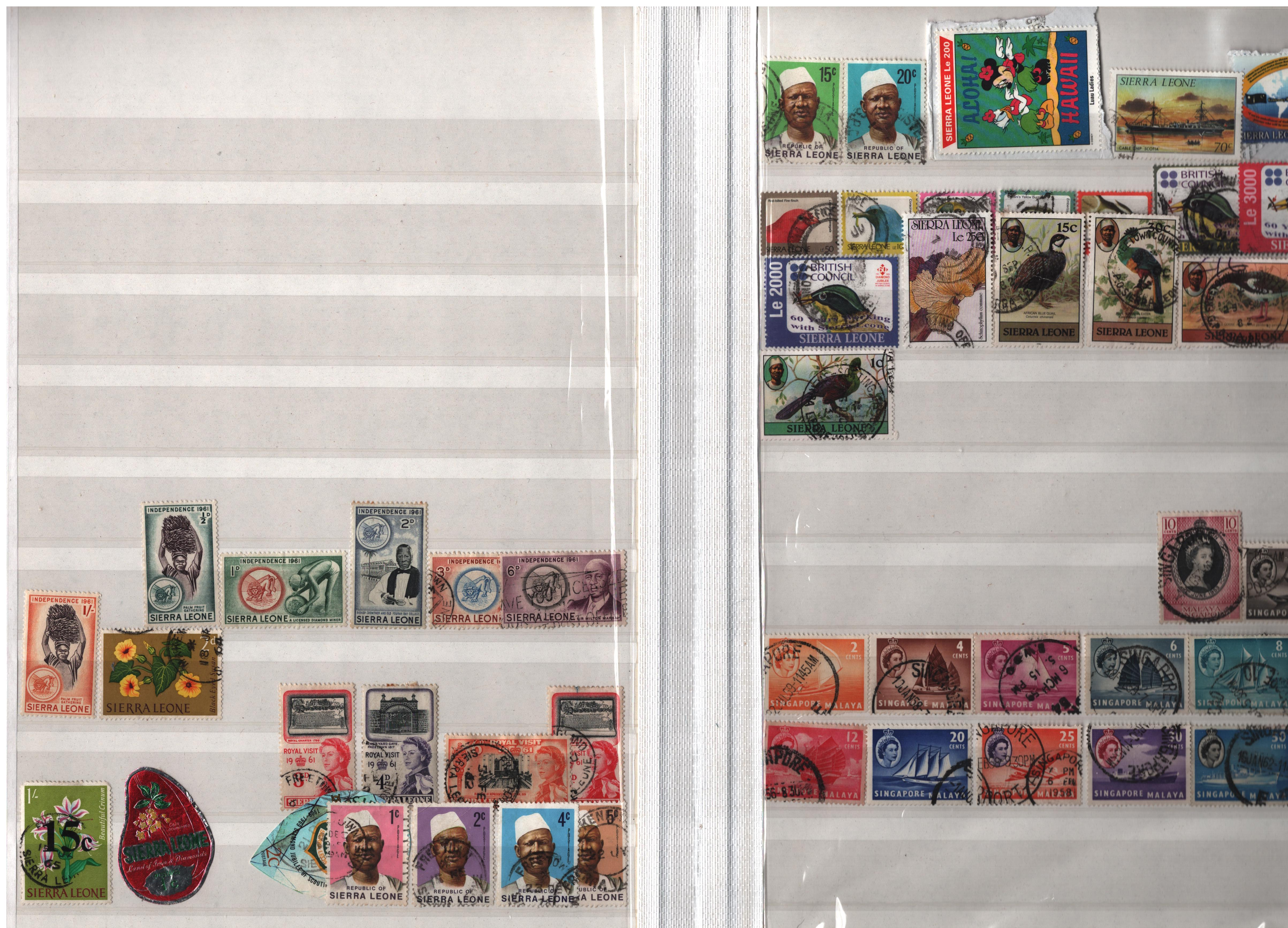 BCW stamp collection on 32 pages in stock book. Includes NZ, Nigeria, St Vincent, Zambia and many - Image 3 of 3
